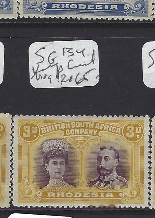 RHODESIA (P0109B)DOUBLE HEAD  3D  SG 134  KINGS CURL  MOG