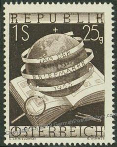 Austria 1953 Mi995 1S Tag der Briefmarke Stamp Day MNH 43510