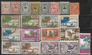 COLLECTION LOT OF 21 NEW CALEDONIA 1905+ STAMPS CLEARANCE