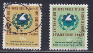 United Nations - New York # 114-115, Development Decade, Used, 1/3 Cat.