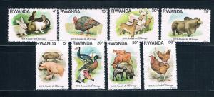 Rwanda 897-904 MNH set Domestic Animals 1978 (R0522)+