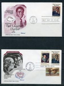 UNITED STATES 1975  AMERICAN ARTS FLEETWOOD  LOT OF SEVEN FIRST DAY COVERS
