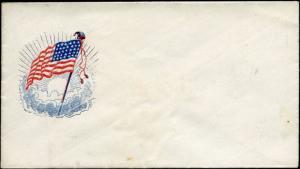 #FL47 U.S. FLAG CIVIL WAR PATRIOTIC COVER UNUSED BM3041
