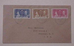 ST. CHRISTOPHER & NEVIS  FDC  KING GEORGE VI   CORONATION  1937