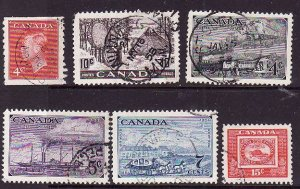 Canada-Sc#300-1,311-14-used QEII issue-many with circle dated cancels-id1154-