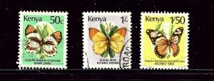 Kenya 427/430/430A Used 1988 Butterflies