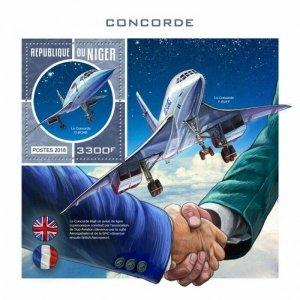 HERRICKSTAMP NEW ISSUES NIGER Concorde S/S