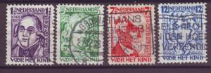 J15670  JLstamps 1928 netherlands set used #b33-6 famous people