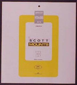 Scott/Prinz Pre-Cut Souvenir Sheets Small Panes Stamp Mounts 172x233 #1024 Black