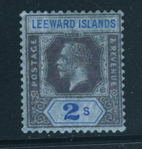 LEEWARD ISLANDS King George V 1922 2s. Purple & Blue on Blue SG 74 MINT