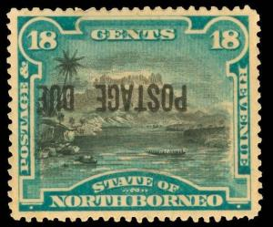 North Borneo Scott J7c Gibbons D10a Mint Stamp