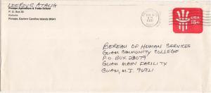 Caroline Islands 15c Uncle Sam Envelope 1981 Ponape, Caroline Islands 96941 t...