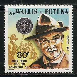 Wallis and Futuna Islands 287 1982 Scouting single MNH