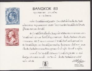 US SC86 BANGKOK 83 Souvenir Card