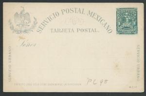 MEXICO early 1c postcard unused............................................60473