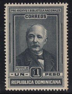 Dominican Republic 1936 1p Black MNH. Scott 321