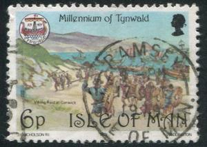 Isle of Man Sc#148 Viking Raid at Garwick  Used VG  (Im)