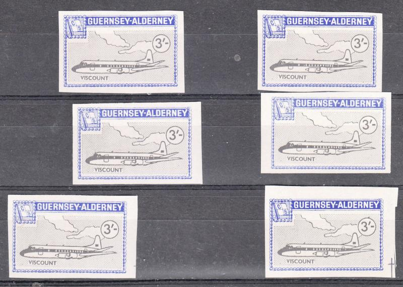 Alderney Commodore 1966 3/- value Imperforate U/Mint