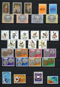 1972 - SAN MARINO - Complete year set - Scott #768 and others - MNH**
