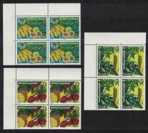 New Caledonia Bananas Pomegranate Vanilla Pineapple Lychees Fruits 3v Corner