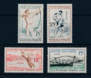 [43320] France 1958 Traditional Sports Archery Wrestling MNH