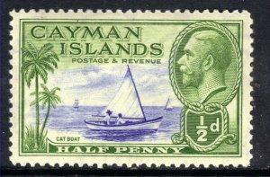 Cayman Islands 1935 KGV 1/2d Blue& Green MM SG 97 ( T619 )