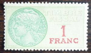 FRANCE - REVENUE STAMP! frankreich stempelmarke fiscal fiscaux tax J75