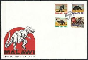 Malawi, Scott cat. 620-622. Dinosaurs issue. Large First day cover.