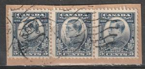#193 Canada Used on paper strip of 3 NIAGARA Cancel