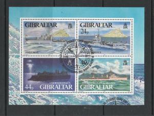 Gibraltar 1995 WW2 Warships MS VFU/CTO SG MS748