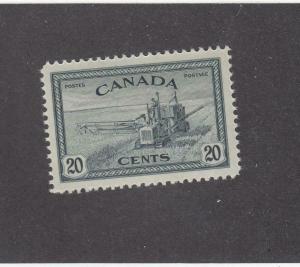 CANADA (MK358) # 271  VF-MNH  20cts COMBINE HARVESTING / SLATE BLACK CAT VAL $14