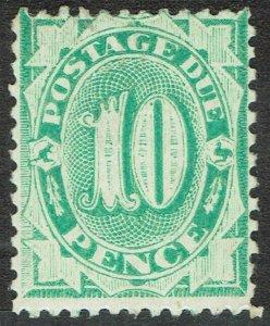 AUSTRALIA 1902 POSTAGE DUE 10D WMK CROWN/NSW PERF 11.5,12 COMP 11