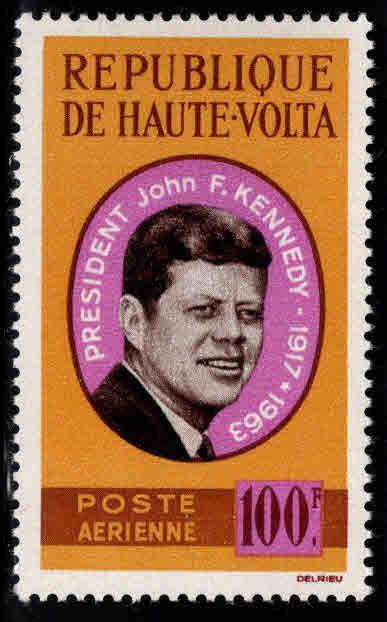 Burkina Faso Upper Volta Scott C19 MNH** 1964 JFK stamp