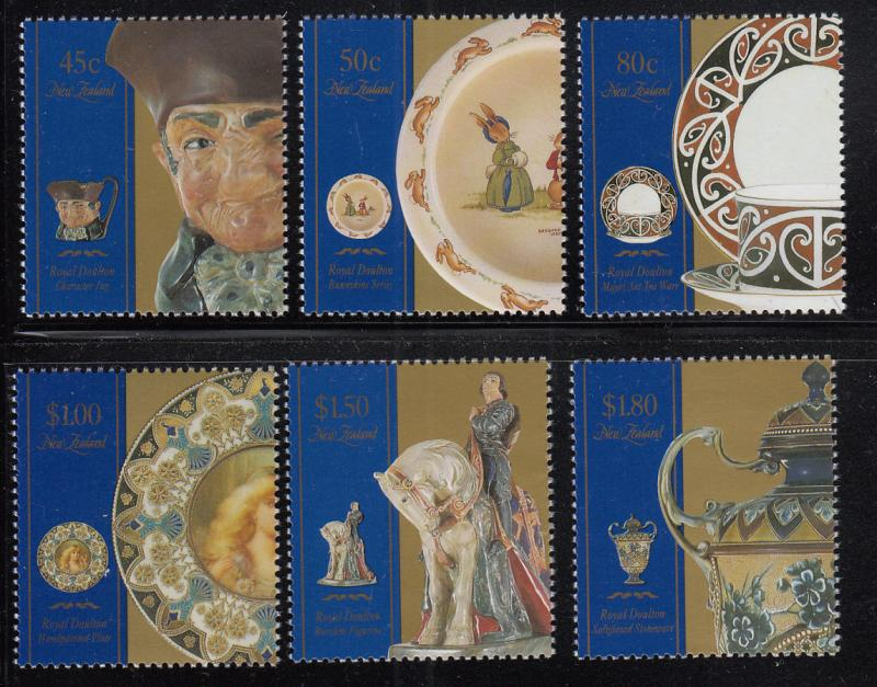 New Zealand 1993 MNH Scott #1139-#1144 Royal Doulton ceramics
