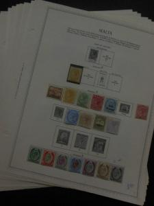 MALTA : A Beautiful & Fresh all Mint collection on album pages. SG Catalog £1831