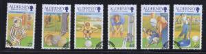 Alderney Sc 170-5 2001 Golf Club  stamp set used