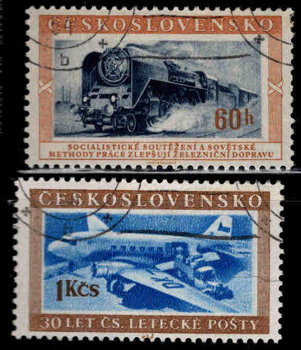 Czechoslovakia Scott 633-634 used set