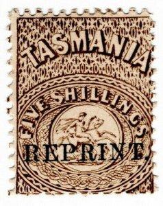 (I.B) Australia - Tasmania Revenue : Stamp Duty 5/- (1889 Reprint)