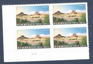4591 New Mexico Statehood Plate Block Mint/nh Free Shipping