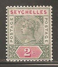 Seychelles  SC 1a  Mint  Hinged