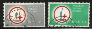 Ireland 1963 Red Cross Scott# 188-189 Used