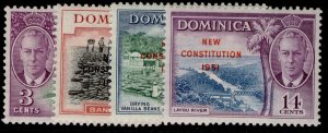 DOMINICA GVI SG135-138, complete set, M MINT.