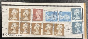 GB #MH248, MH266, MH281, MH283 Used on Paper - Queen Elizabeth SCV~$65 [W12.4.1]