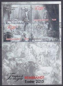 2015 Tonga 2029-32/B86 Painting 11,00 €
