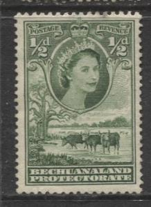 Bechuanaland - Scott 154 - QEII - Definitive -1955 - MNG - Single 1/2p Stamp