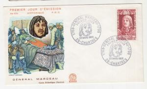 FRANCE, 1969 Red Cross Fund, General Marceau 50c.+ 10c. First Day cover.
