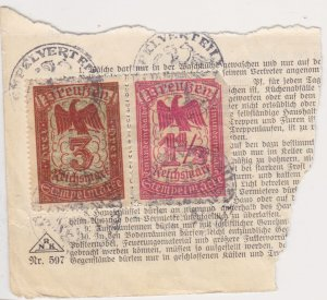 Germany two revenues on a piece of document