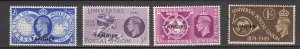 J26359  jlstamps 1949 great britain morocco set mh #546-9 ovpt
