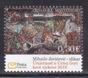 Montenegro 2019 Art Mihailo Jovicevic Painter Painting stamp MNH