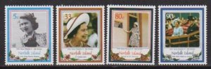 1986 Norfolk Isl. Scott 385-388 QEII 60th Birthday MNH
